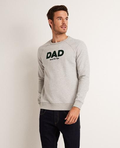 Lichtgrijze sweater 'DAD'